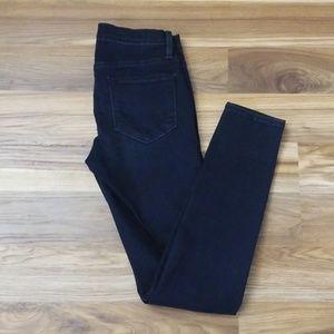 FRAME Denim Le Skinny de Jeanne Black Skinny Jeans